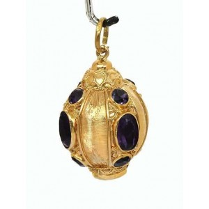 18K Yellow Gold Amethyst Pendant