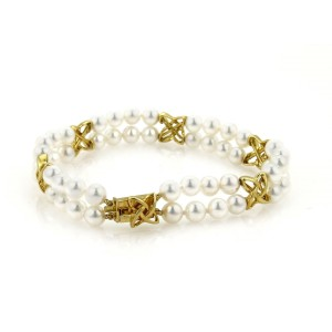 Mikimoto Akoya 18K Yellow Gold Cultured Pearl Bracelet