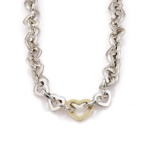 Tiffany & Co. Sterling 18K Yellow Gold, Sterling Silver Necklace