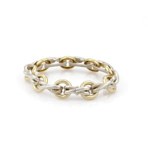 Tiffany & Co. Picasso  18k Gold and Sterling Silver Rings & X Links Chain Bracelet
