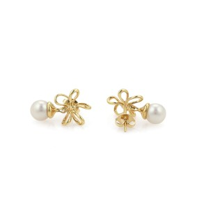 Tiffany & Co. 18K Yellow Gold Cultured Pearl Earrings