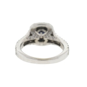 Vera Wang Love Collection 14k White Gold Diamond Halo Ring Approx .50TCW