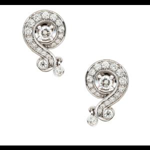Van Cleef & Arpels 18K White Gold Diamond Earrings