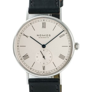 Nomos Glashutte Ludwig 234 Mens Hand Winding Watch With Box & Booklet 37.5mm