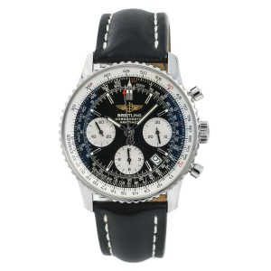 Breitling Navitimer A23322 Mens Automatic Watch Chronograph Black Dial 42mm