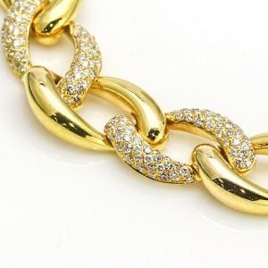 2.50 Carat 18k Yellow Gold Curb Link Toggle Bracelet