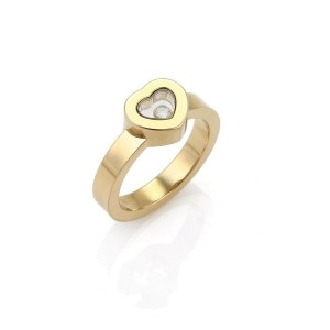 1ccfaa420 Chopard Happy Diamond 18k Yellow Gold Heart Ring Size 6 | Chopard | Buy at  TrueFacet