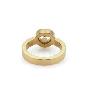 Chopard Happy Diamond 18k Yellow Gold Heart Ring Size 6
