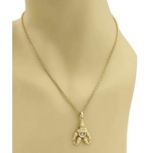 Chopard Happy Diamond 18k Yellow Gold Animated Clown Pendant & Chain
