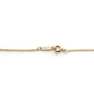 Tiffany & Co. Diamond 18k Rose Gold Classic Round Padlock Pendant & Chain