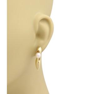 Mikimoto Akoya Pearls 18k Yellow Gold Drop Earrings