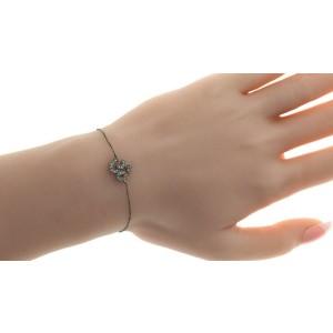 SYDNEY EVAN 14K Black Gold Pave Diamonds Bracelet