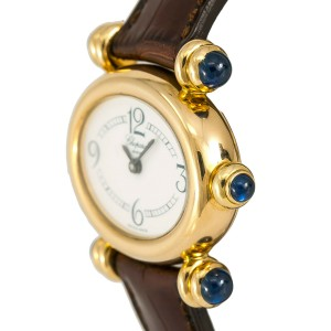 Chopard Imperiale 5246 Womens Quartz Watch White Dial 18K Yellow Gold 31mm