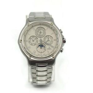 Ebel 1911 Perpetual Calendar Chronograph 18K White Gold Watch 3136901