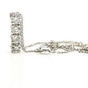 .48 Carat 14k White Gold Diamond Drop Pendant Necklace