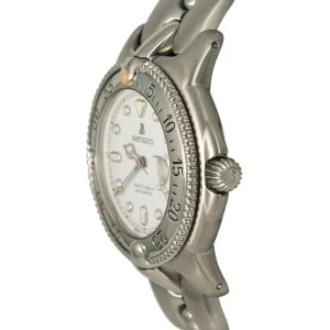 Bertolucci Maris Diver 300M 6298055 Unisex Automatic Watch SS White Dial 37mm