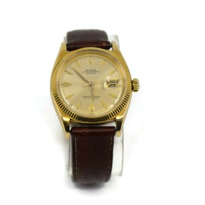 Rolex Datejust 18K Yellow Gold Watch 6605