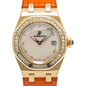 Audemars Piguet Lady Royal Oak 67601BA.ZZ.D012CR.02 Quartz 18K YG MOP Dial 33mm