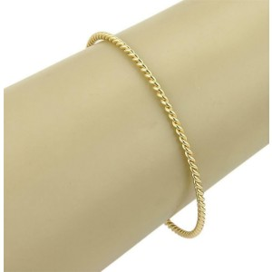 Tiffany & Co. Twisted Rope Wire 18k Yellow Gold Bangle Bracelet