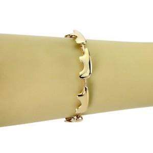 Golden Bear 14k Yellow Gold 7 Bear Link Bracelet