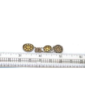 John Hardy Dot 18k Gold & Sterling Silver Triple Dangle Earrings