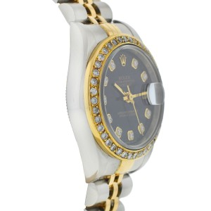 Rolex 79173 Datejust Two Tone AM Diamond Dial and Bezel Automatic Ladies Watch