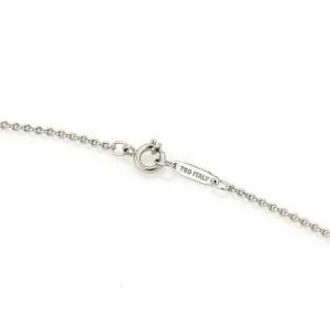 Tiffany & Co. Paloma Picasso Hammered Diamond 18k White Gold Heart Pendant