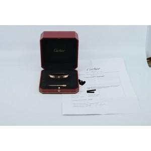 Cartier 18K Rose Gold Love Bracelet Size 17
