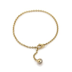 Cartier 18k Tricolor Gold Love Knot Dangling Charm Chain Bracelet