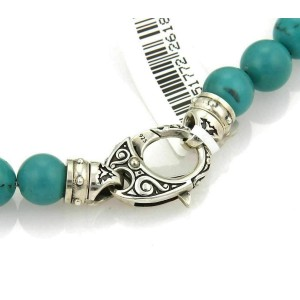 Stephen Webster 8mm Turquoise Bead Sterling Bracelet