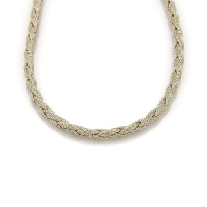 Tiffany & Co. Somerset Sterling Silver 6mm Braided Mesh Necklace