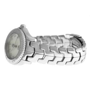 Ladies Tag Heuer Link WJF319-0 Steel MOP Diamond Date 200M Quartz 27mm Watch