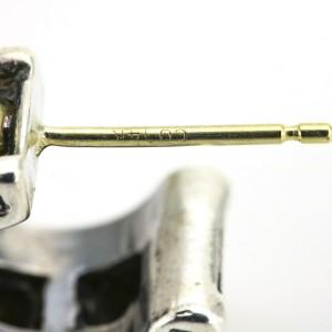 Lagos Sterling Silver 18k Gold Caviar Small Huggie Hoop Earrings