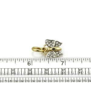 Pomellato Diamond 18k Yellow & White Gold Butterfly Pendant