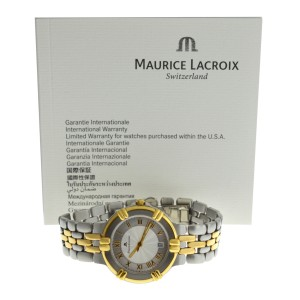 Maurice Lacroix 95437 Gold Electroplated Steel Quartz 35MM Date Watch