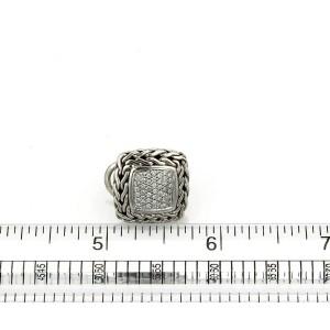 John Hardy Classic Chain Diamond Sterling Silver Square Earrings