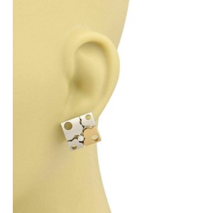 Koesia Diamonds 18k Two Tone Gold Floral Puzzle Earrings