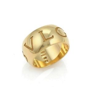 Bvlgari Monologo 18k Yellow Gold Wide Band Ring Size 53 US 6