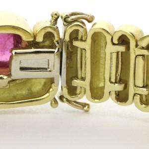Marlene Stowe Tourmaline Link Bracelet in 18k Yellow Gold