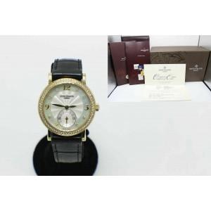 Patek Philippe Calatrava 4959J Mother of Pearl Diamond Dial Bezel Box Papers