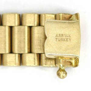 Men's Rolex President Style Link Bracelet in 14k Yellow Gold