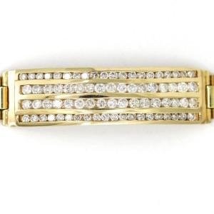 Men's Rolex President Style Link Diamond ID Bracelet in 14k Yellow Gold