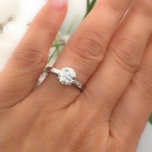 Vintage Tiffany & Co Palladium Diamond Engagement Ring Old Cut 1.72 TCW G VVS2