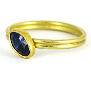 Stephani Briggs Blue Sapphire Band Ring in 18k Yellow Gold