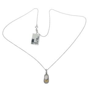 "0.35 CT Diamonds 18K Gold Shoe Pendant 14K Gold Chain Necklace Size 18"" »N121"