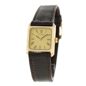 Ladies' Longines Gold Electroplated Sterling Silver Mechanical 20mm Watch