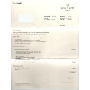 Patek Philippe Calatrava 2526J Automatic 18K Yellow Box Service Paper