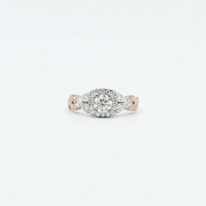 Neil Lane Diamond Engagement Ring 1 5/8 TCW 14k Rose & White Gold