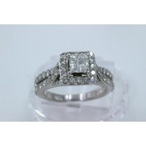 Tolkowsky Diamond Engagement Ring Princess 1.56 tcw 14k White Gold $7,049 Retail