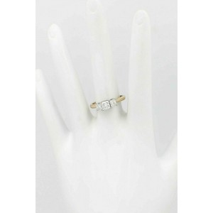 Leo Diamond Engagement Ring 3 Stone Princess 1.04 ct G SI1 14k Gold $4,000 Value